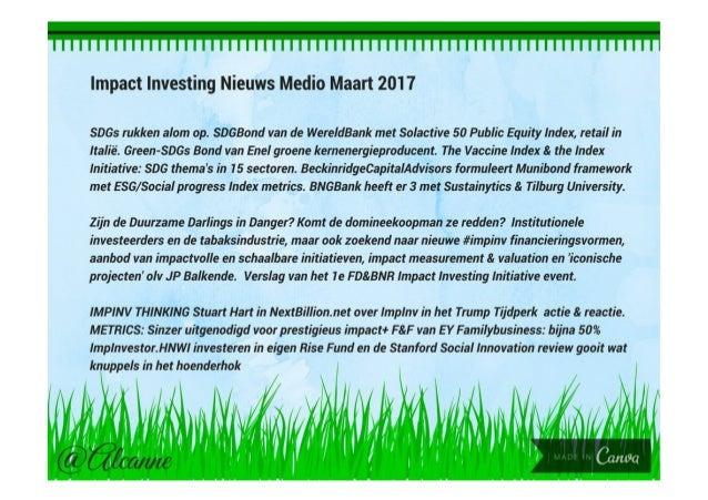 Drs Alcanne Houtzaager, Inclusive² Impact Investing p.1