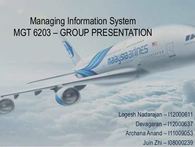 Managing Information SystemMGT 6203 – GROUP PRESENTATION                      Logesh Nadarajan – I12000611                ...