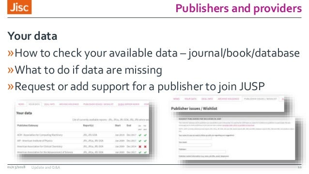 Publishers and providers »How to check your available data – journal/book/database »What to do if data are missing »Reques...