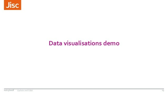 Data visualisations demo 01/03/2018 Update and Q&A 13