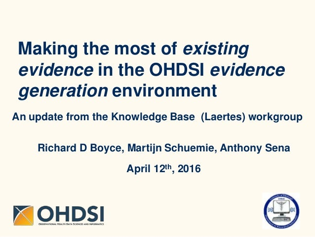 Making the most of existing evidence in the OHDSI evidence generation environment An update from the Knowledge Base (Laert...