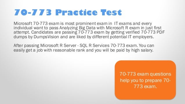 Latest 70-773 Verified Practice Test 773 Exam QA PDF+Simulator