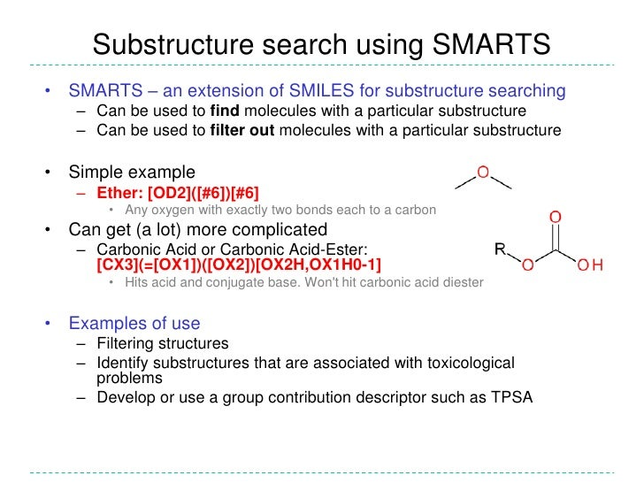 Substructure search smarts