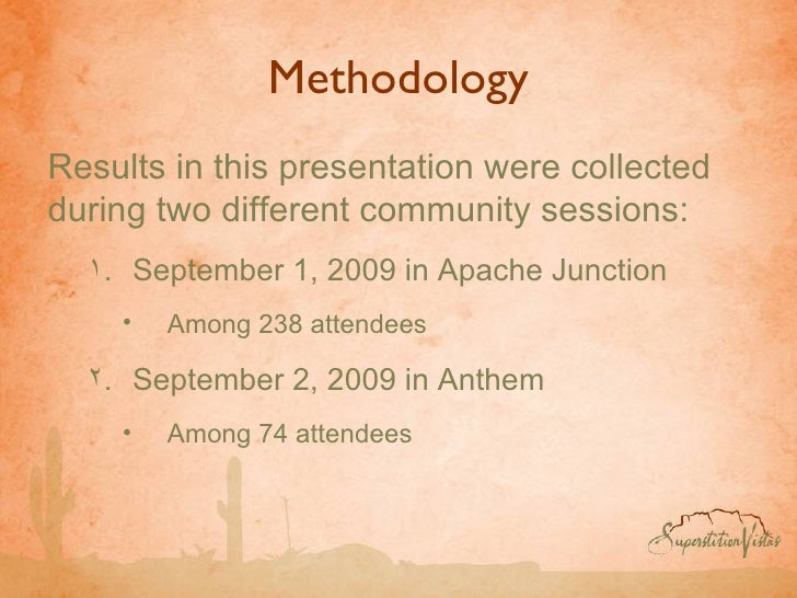 Methodology <ul><li>Results in this presentation were collected during two different community sessions: </li></ul><ul><ul...
