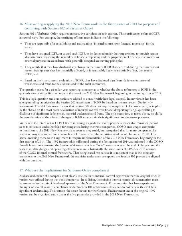 coso internal control framework pdf