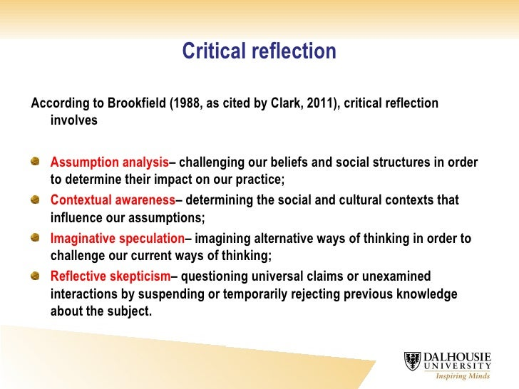critical reflective writing  4 critical reflection