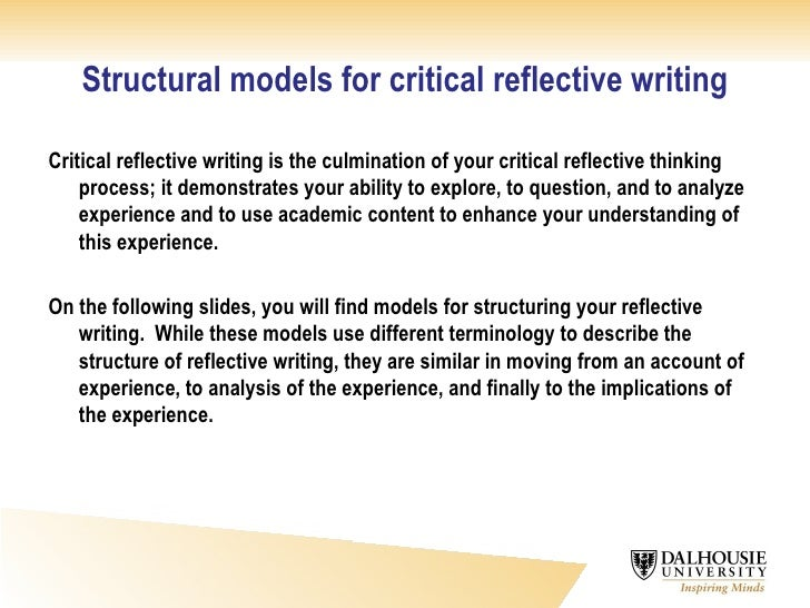 critical reflective writing  8 structural models for critical reflective