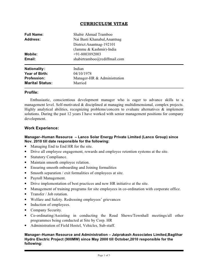 Updated Cv Of Shabir Copy .  Hard Copy Of Resume