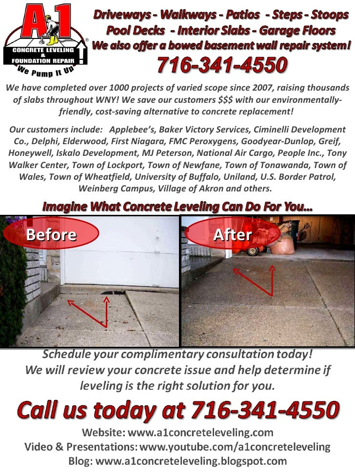A 1 Concrete Leveling Western New York Division Buffalo