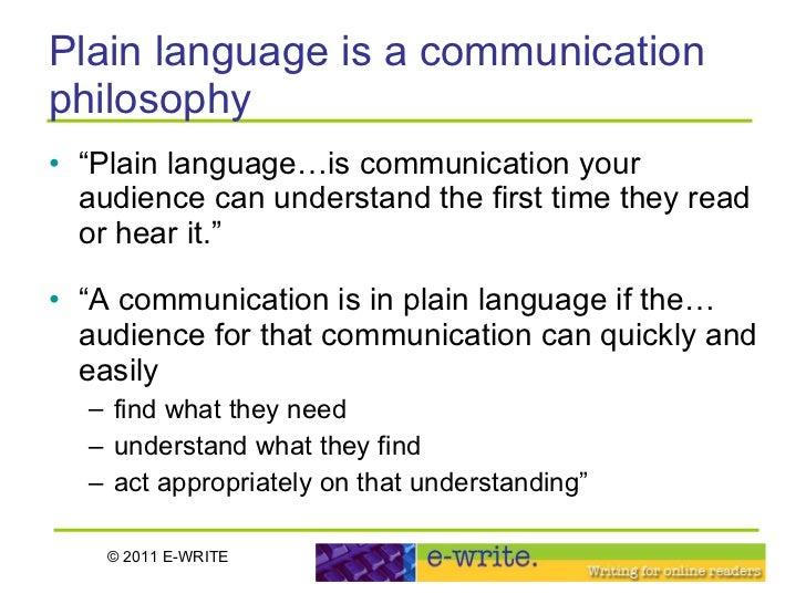 plain language writing act
