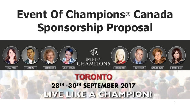 Event Of Champions® Canada Sponsorship Proposal 1