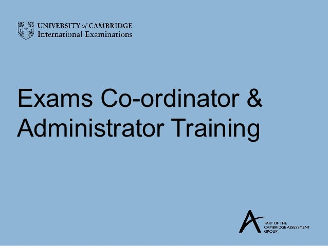 Exams Co-ordinator &Administrator Training