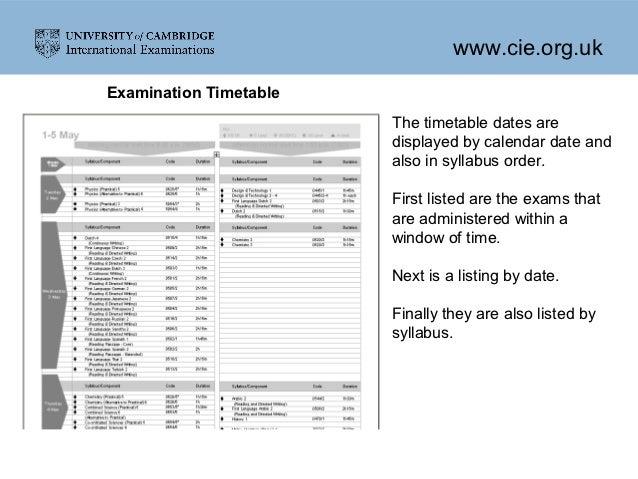 cie coursework deadlines 2016
