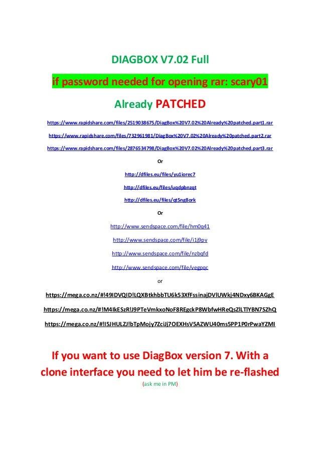 Diagbox 7 57 update