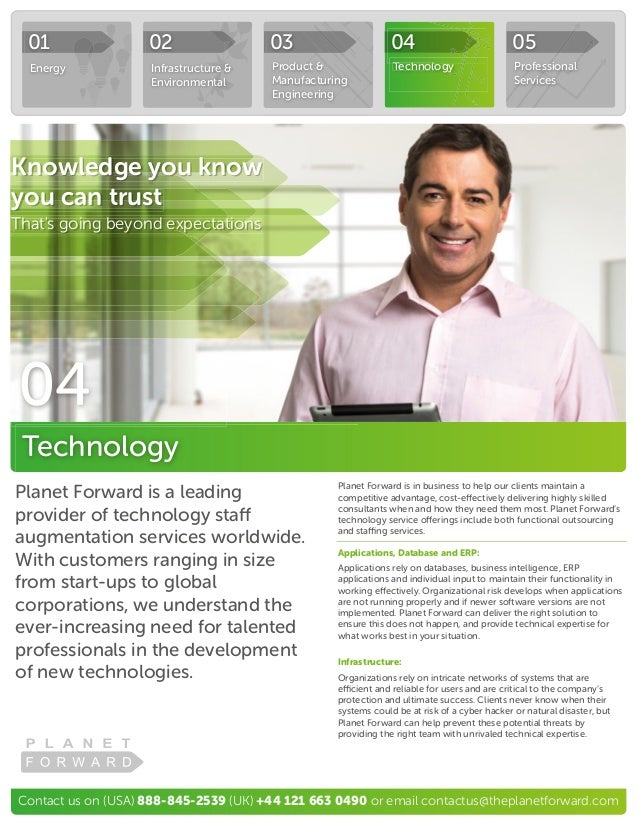 Contact us on (USA) 888-845-2539 (UK) +44 121 663 0490 or email contactus@theplanetforward.com Planet Forward is a leading...