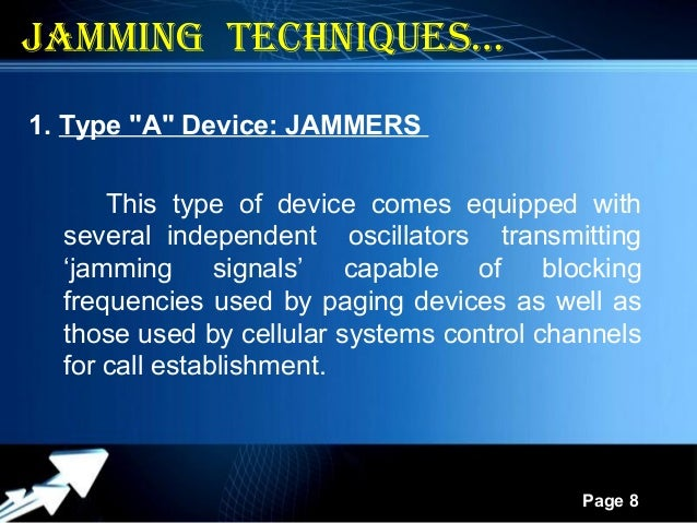 Call blocking devices - jammer devices