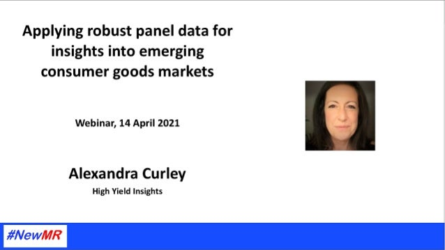 Applying robust panel data for insights into emerging consumer goods markets. A Case-Study in the Legal Cannabis Industry ...