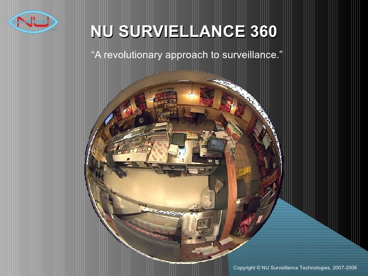 "NU SURVIELLANCE 360 "" A revolutionary approach to surveillance."""