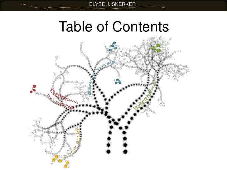 ELYSE J. SKERKER<br />Table of Contents<br />