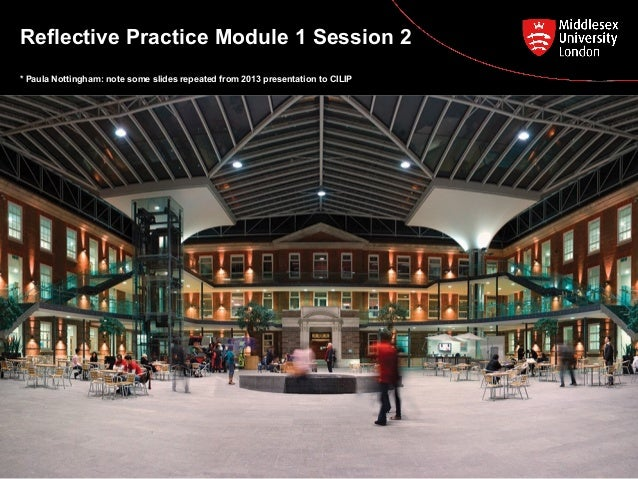 Reflective Practice Module 1 Session 2 * Paula Nottingham: note some slides repeated from 2013 presentation to CILIP