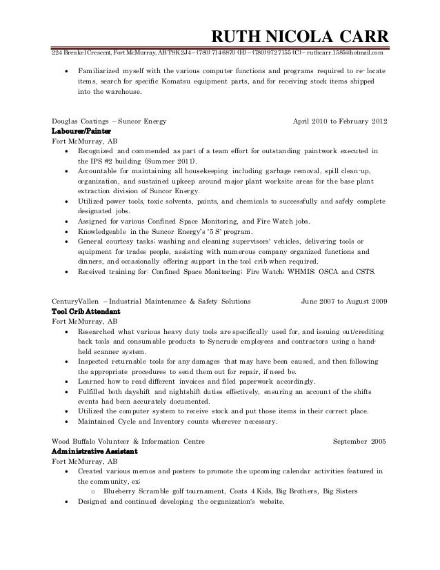 warehouse manager resume resume 1585