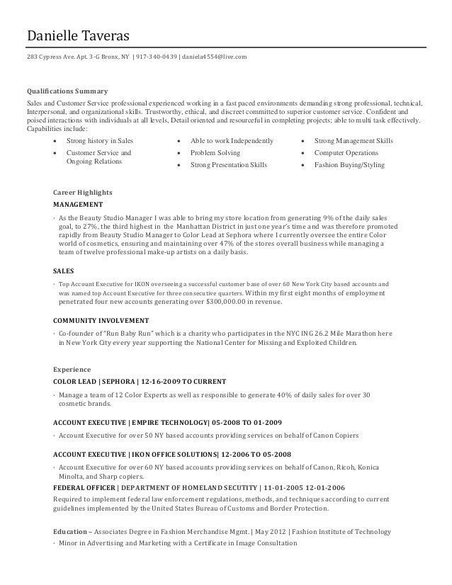 sephora resume resume ideas