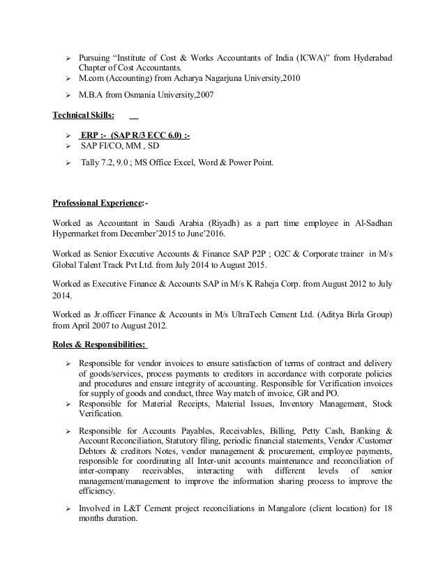 informatica resume sample