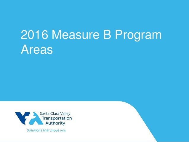 2016 Measure B Program Areas
