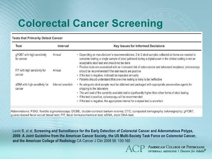 Update In Cancer Screening Venezuela