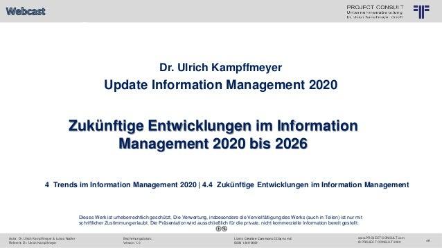 ratung Dr. Ulrich Kampffmeyer GmbH 7 © PROJECT CONSULT Unternehmensberatung Dr. Ulrich Kampffmeyer GmbH 2011 / Autorenrech...
