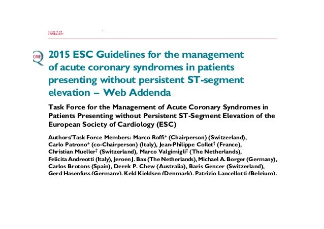 guidelines for the management of acute coronary syndromes australia