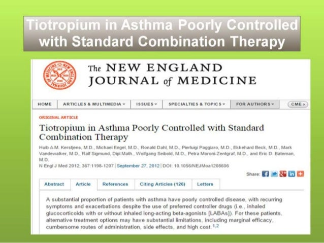 Tiotropium In Asthma Poorly Controlled With Standard