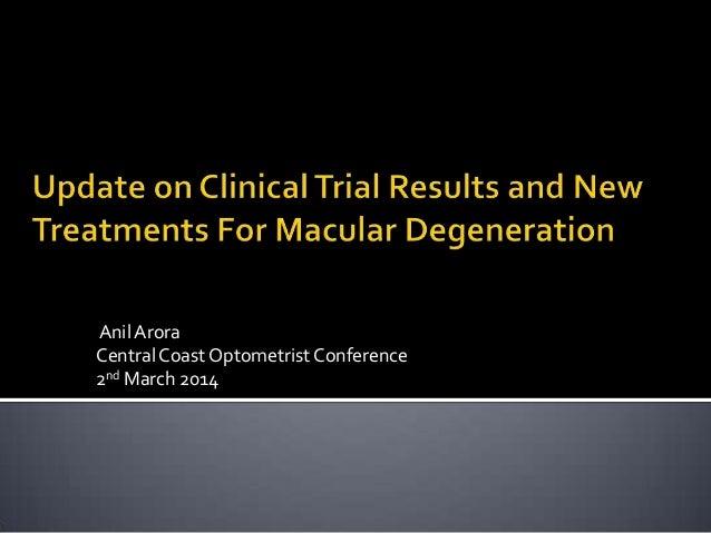 Anil Arora Central Coast Optometrist Conference 2nd March 2014