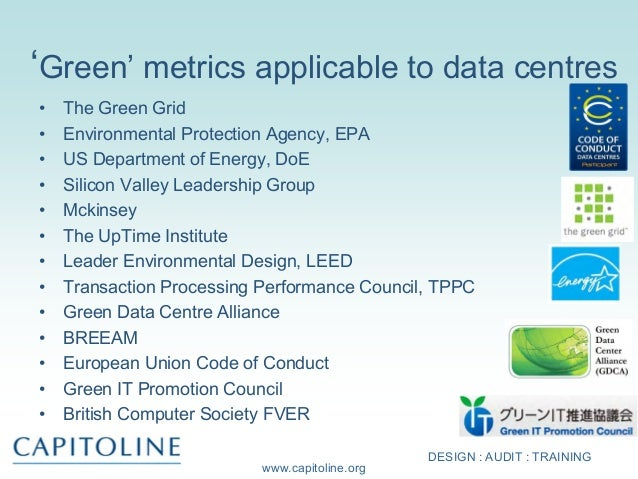 Update On European Data Centre Standards Socitm 2013