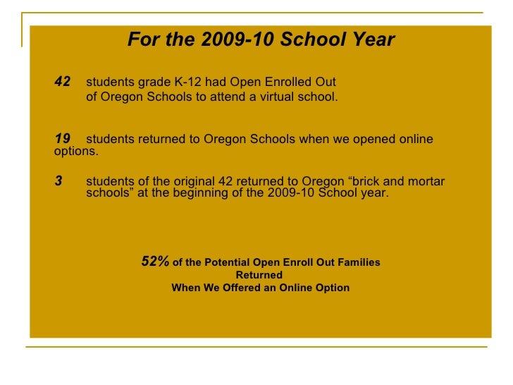 Online school options oregon