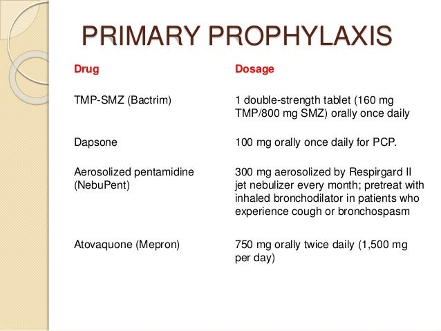 Septra iv dose pneumocystis carinii