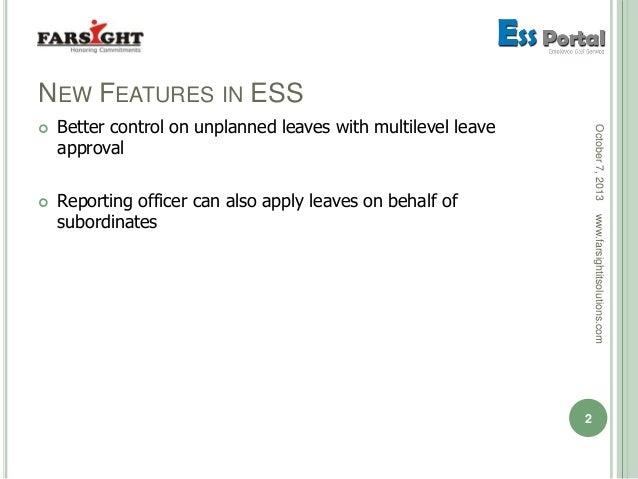 Farsight Employee Self-Service (ESS) Portal Updates