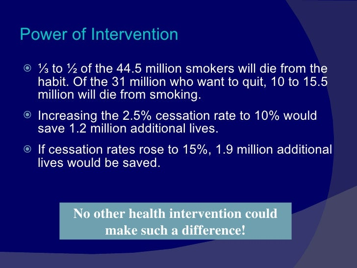 tobacco cessation essay View and download tobacco essays examples also discover topics, titles, outlines, thesis statements, and conclusions for your tobacco essay.