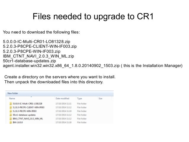 Update to IBM Connections 5 CR1 step by-step guide Slide 3