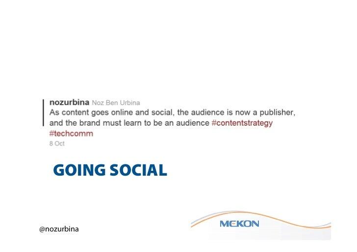 GOING SOCIAL@nozurbina