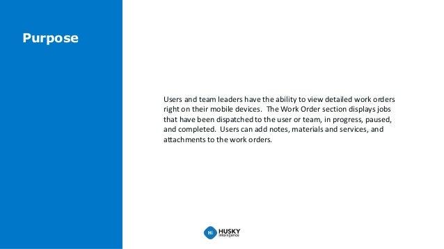 Work Order Management on a Mobile Device Slide 2