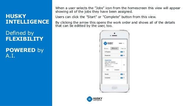 Work Order Management on a Mobile Device Slide 3