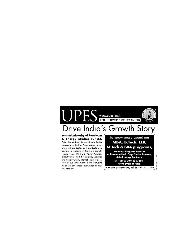 UPES Road Show & Counseling Meet- Lucknow