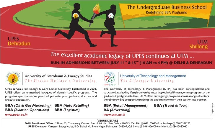 RUN-IN ADMISSIONS BETWEEN JULY 11th & 15th @ Delhi & Dehradun