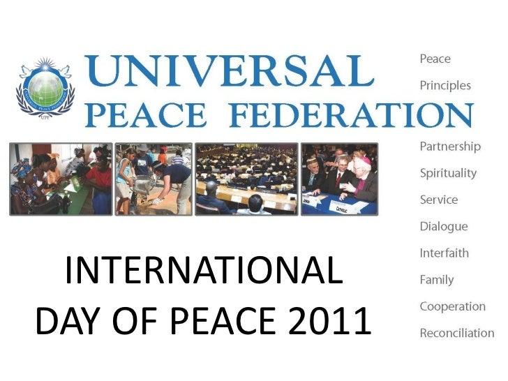 INTERNATIONALDAY OF PEACE 2011
