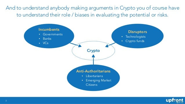 Anti-Authoritarians • Libertarians • Emerging Market Citizens 3 And to understand anybody making arguments in Crypto you o...