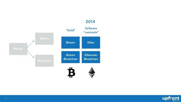 """7 Bitcoin Bitcoin Blockchain """"Gold"""" Software """"contracts"""" Bitcoin Ether Bitcoin Blockchain Ethereum Blockchain 2014"""