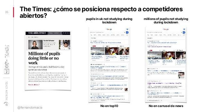 The Times: ¿cómo se posiciona respecto a competidores abiertos? 35 @fernandomacia millions of pupils not studying during l...