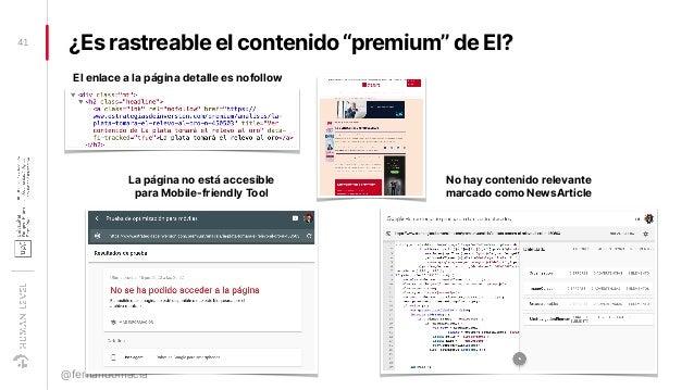 """¿Es rastreable el contenido """"premium"""" de EI?41 @fernandomacia La página no está accesible para Mobile-friendly Tool No hay..."""