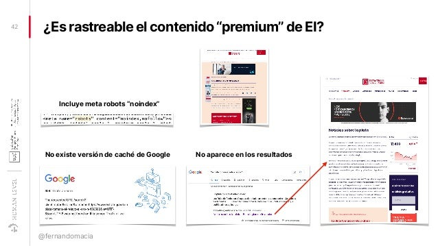 """¿Es rastreable el contenido """"premium"""" de EI?42 @fernandomacia No existe versión de caché de Google No aparece en los resul..."""